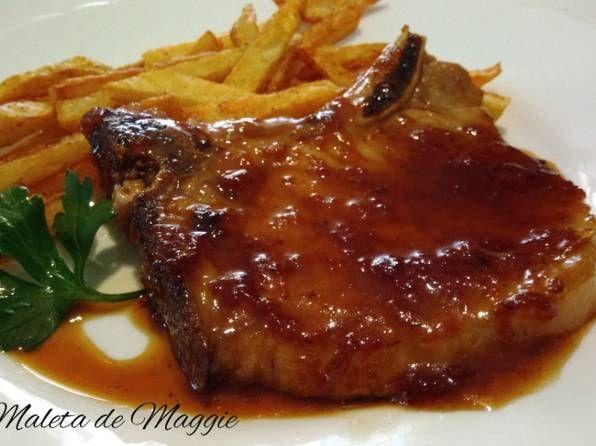 Chuletas De Cerdo Con Salsa De Ajo Y Perejil Receta De La Maleta De Maggie Receta Cerdo En Salsa Chuletas De Cerdo Al Horno Recetas De Chuletas De Cerdo
