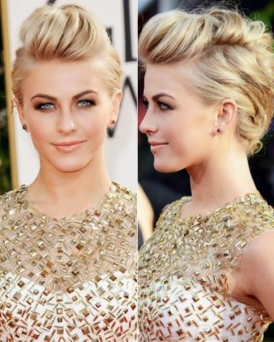 cute celebrity updos - Celebrity Julianne Hough's Edgy Bouffant - 2014 Hairstyles: Easy updos inspired by Julianne Hough's and more - Hair Trends 2014 Hairstyle