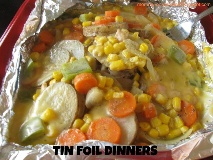 Have you ever had a Tin Foil Dinner? If you haven't then