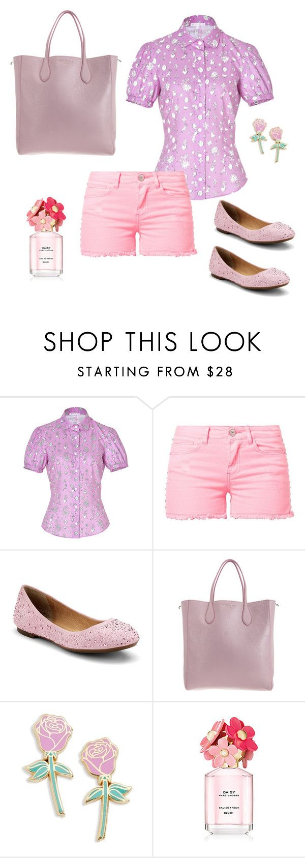 """""""Rosa Romantico"""" by carolortiz ❤ liked on Polyvore featuring Olympia Le-Tan, MKT studio, Sperry, Rochas and Big Bud Press"""