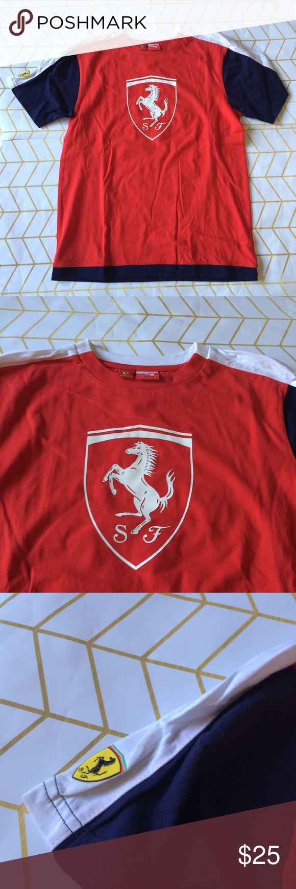 Sample Sale! Puma Ferrari Boys Tee, M Ferrari and Puma Ferrari Designer Sample Sale! Please read: Tees are down to $25 (retail $45+), Polos/Sweatpants $35 (retail $70+), Jeans/Sweatshirts $45 (retail $100+), and Jackets $65 (retail $150+), PLUS the 10% bundle discount! These items are heavily discounted by 60-85%, list/bundle prices are FIRM!  {These items are direct from the manufacturer and will have sample tags or no tag. They may have their size/brand printed on tag + not garment. Please…