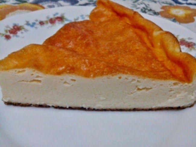 Corte Tarta de Queso y Yogur Sin Azúcar