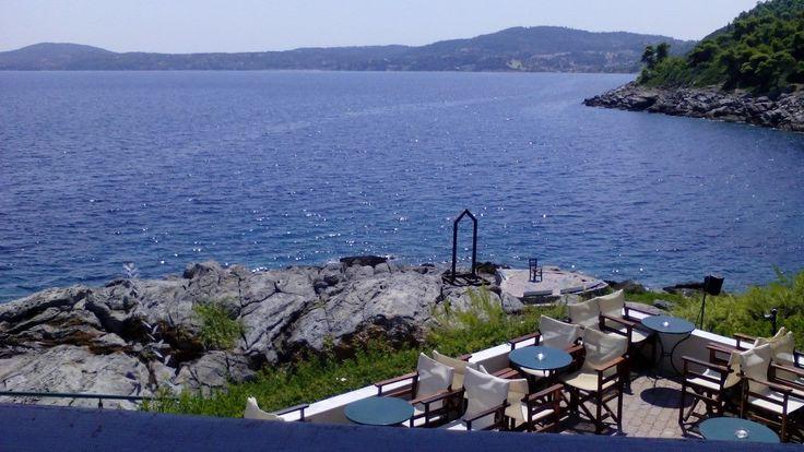A morning view from #PortoValitsa #bar at #Paliouri #Halkidiki http://portovalitsa.gr/