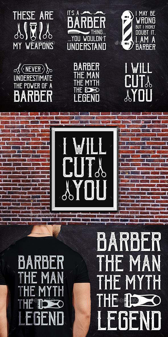 Barber #T-Shirt Badge - #Badges & #Stickers Web Elements