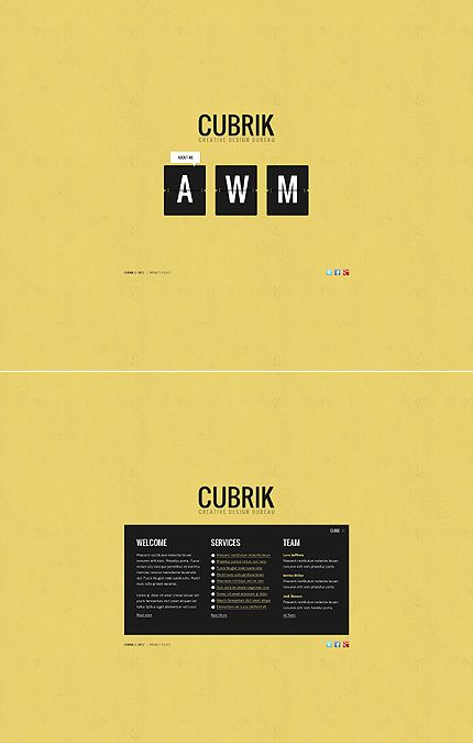 Template 40197 - Single Page HTML5 Website Design