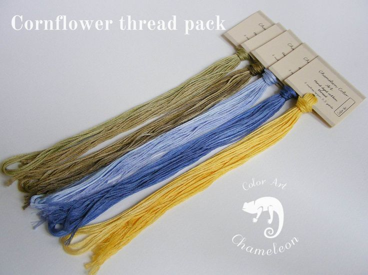 5 PCS Pure Cotton THREAD PACK Cornflower - 6 metres/6.5 yards each by ChameleonColorArt on Etsy