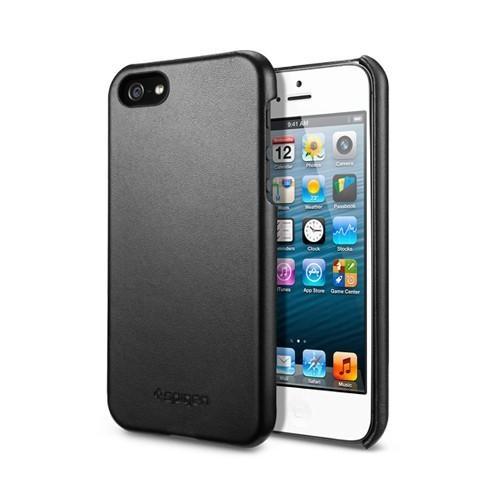 Husa piele iPhone 5 Grip black de la SPIGEN SGP