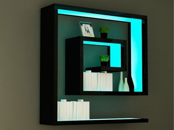 Maze Labyrinth Wall Shelf Design With Lighting | Bhouse | Projects