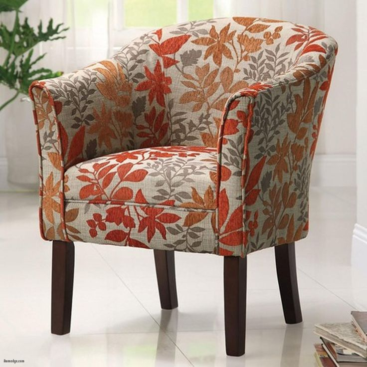 best Beautiful Patterned Armchair , Coaster Orange Fabric Accent Chair Steal A Sofa Furniture , http://ihomedge.com/patterned-armchair/8361