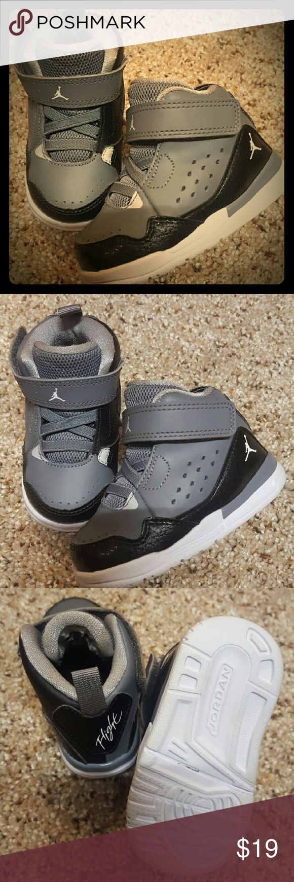 LIKE NEW Toddler Jordan Flight Shoes 4c 4c Toddler Jordans... so cute. Jordan Shoes Baby & Walker