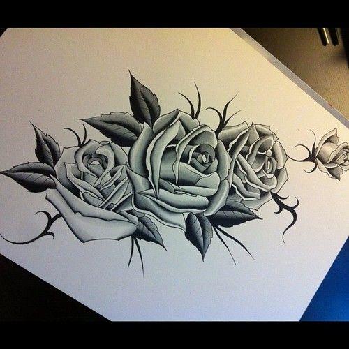 Dibujos De Rosas Para Tatuar