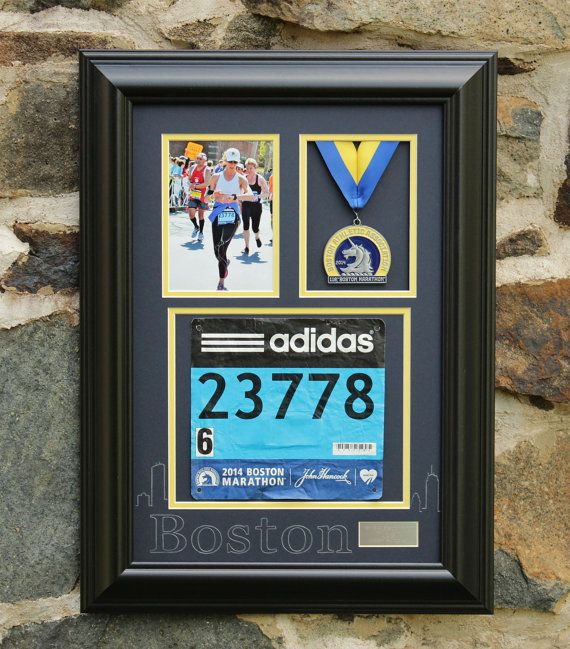 Boston Marathon Medal Display Frame  Satin by PhotoFinishFrames, $164.95