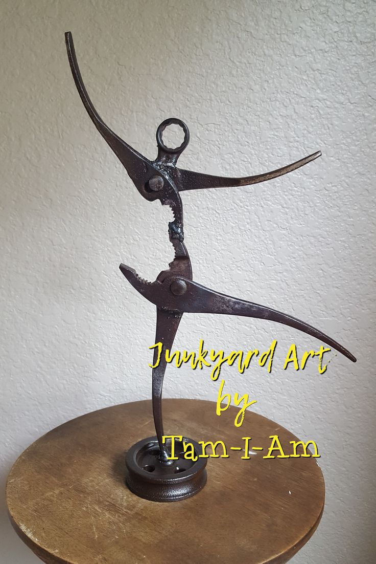 Junkyard Art by Tam-I-Am.  Repurposed wrenches make a Tiny Dancer