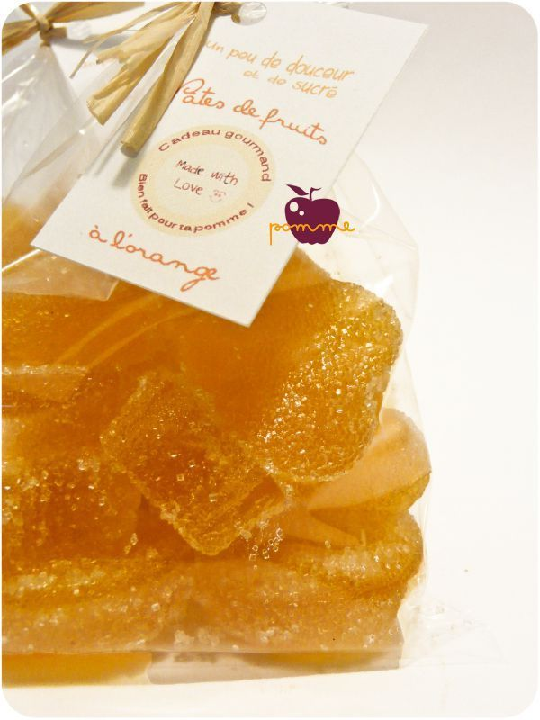 Pâte de fruit à l'orange (agar-agar)