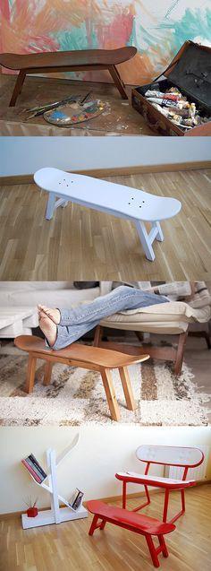 deco tablas skate taburetes Deco skate con tablas recicladas