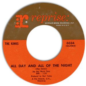 kinks 45 label | 45 Record: All Day And All Of The Night/ I Gotta Move by The Kinks ...