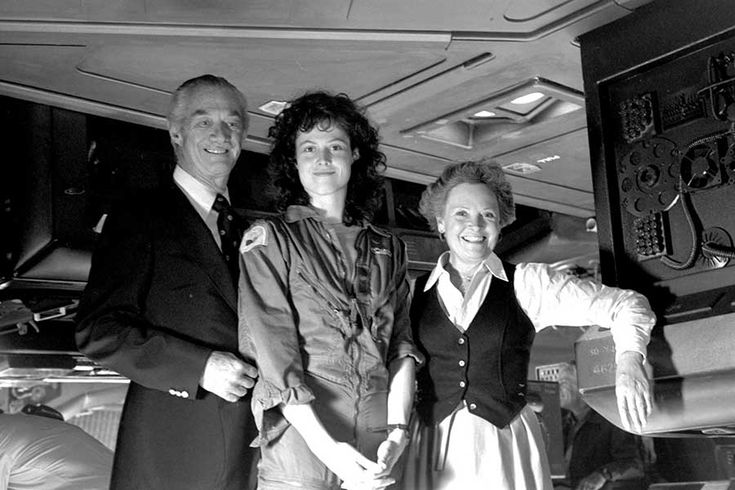Sigourney Weaver with her parents Sylvester Weaver and