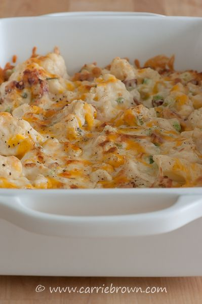#SANE Loaded Twice Baked Cauliflower  | www.carriebrown.com | www.sanesolution.com