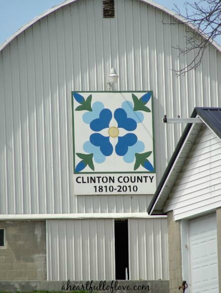 Clinton County Ohio Barn Quilt Geotrail | A Heart Full of Love