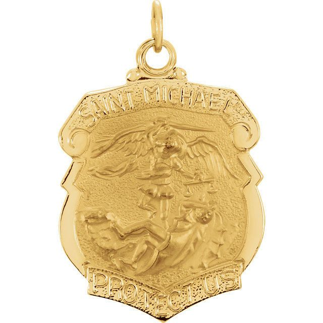 The 25 best st michael pendant ideas on pinterest st michael 14k yellow gold 2425x205mm st michael medal mozeypictures Choice Image