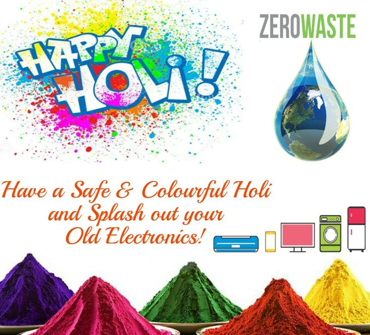 Excitement & Enthusiasm Unlimited!! Team #ZeroWaste wishes you all a very happy and colourful Holi. #HappyHoli #ZWIndia
