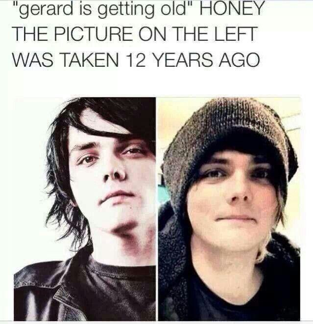 Gerard Way. He must be a Time-Lord.