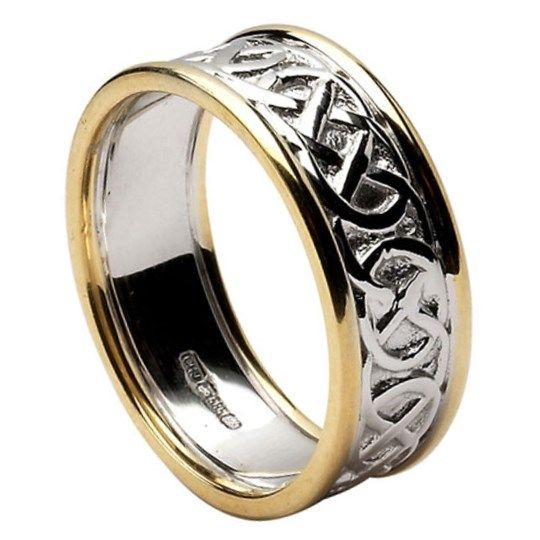 Unique Closed Knot Wedding Ring with Trim Celtic Wedding Rings Rings from Ireland The