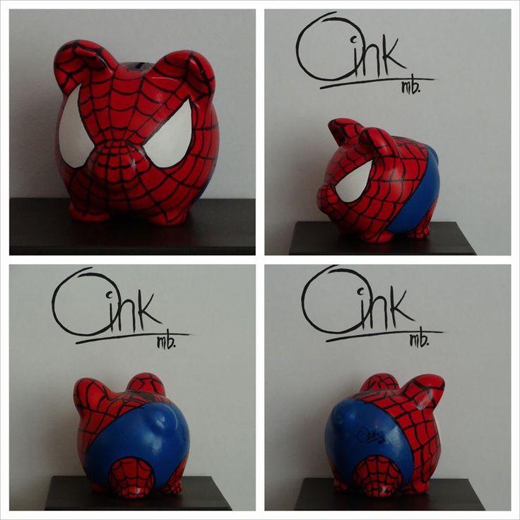 Spiderman Oink mb alcancias hechas a mano
