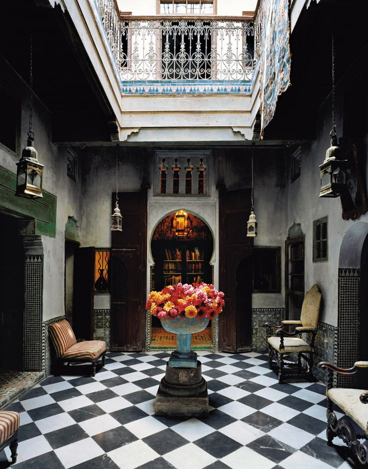 Interior Courtyard At YSL Estate