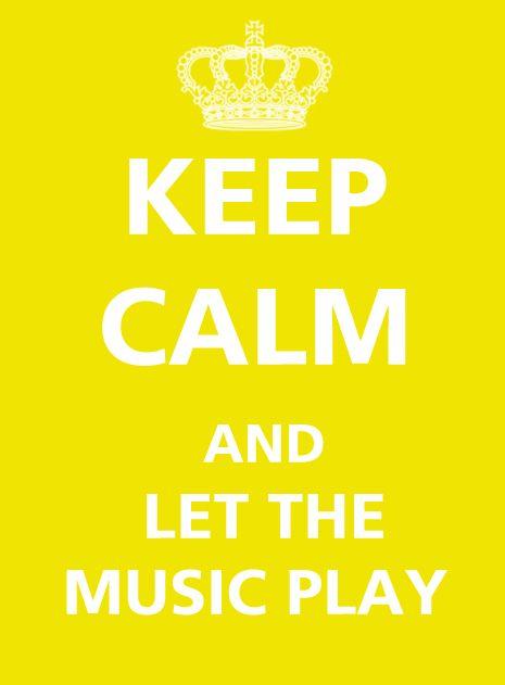 Always... The music always plays