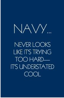 Great Navy Quote!  Tory Burch