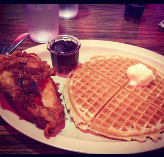 Roscoe's Chicken and Waffles...This is perhaps the most popular place in Los Angeles for chicken and waffles. I don't know about the chicken, but hands down, Roscoe's has the BEST waffles!
