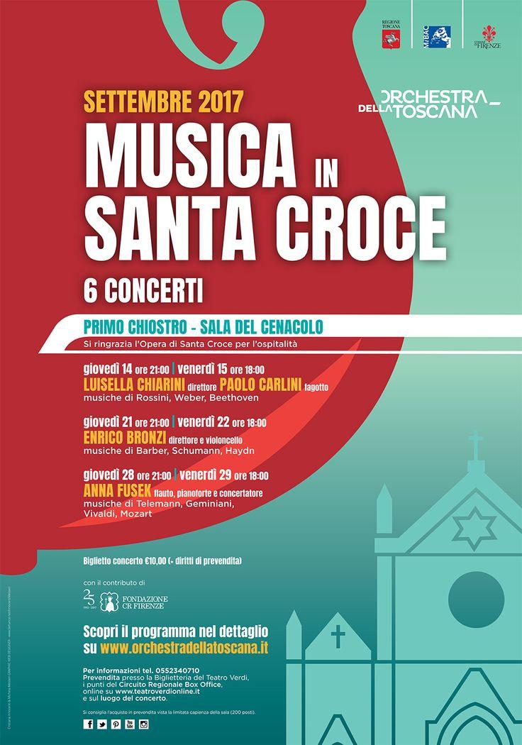 ORT | Manifesto Musica in Santa Croce | settembre 2017 grafica Cristiana Innocenti e Michela Messeri Graphic Web Designer