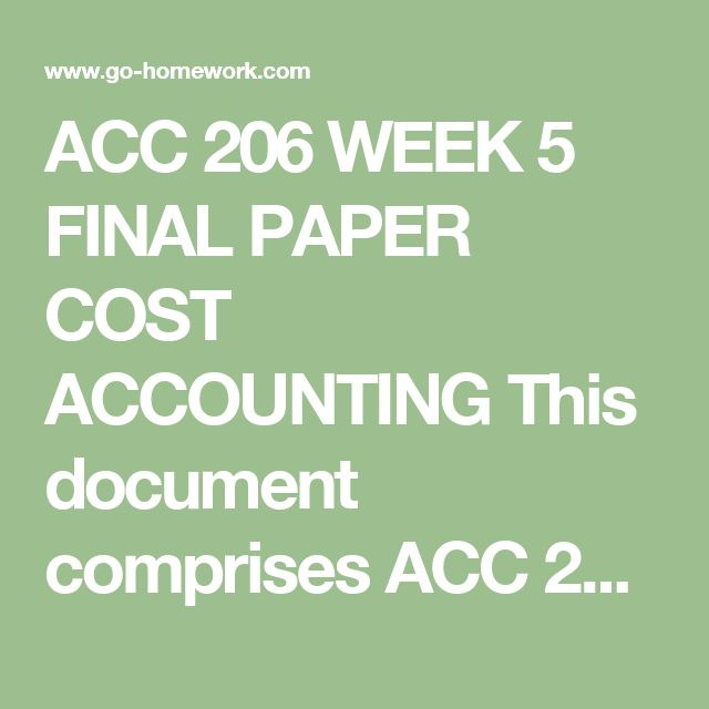 week 5 discussion cost accounting Week 4 cost allocation discussion 1 (accounting for primary products) discussion 2 (workout room) week 5 pricing decisions, management control systems.