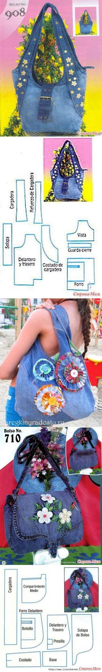Джинсовые сумки.Идеи+выкройки (Шитье и крой) | Журнал Вдохновение Рукодельницы