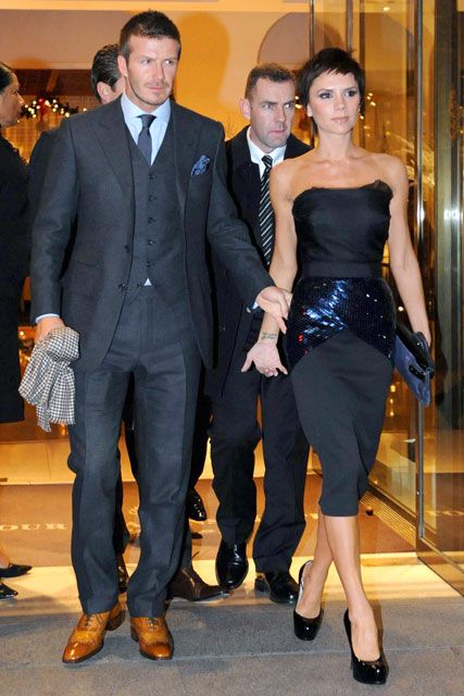 David Beckham and Victoria Beckham, Celebrity Style Spy, Celebrity Pictures, Marie Claire