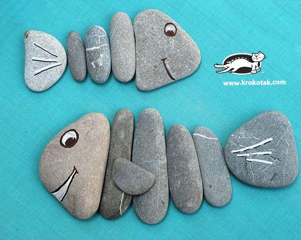 3 Ideas with Beach Pebbles