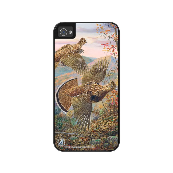 """Airstrike® Grouse iPhone 5s Case, Grouse Hunting iPhone 5 Case, Grouse iPhone Case Protective Hunting Phone Case """"Brown Bombers"""" 50-5300"""