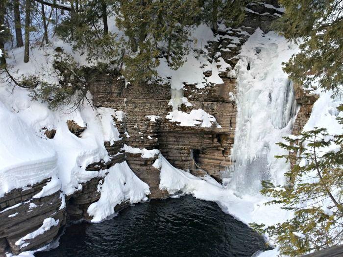 Waterfall at Mont-Sainte-Anne Quebec Canada