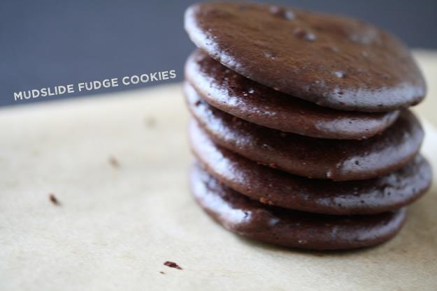 Mudslide Fudge Cookies  #justeatrealfood #foodrenegade