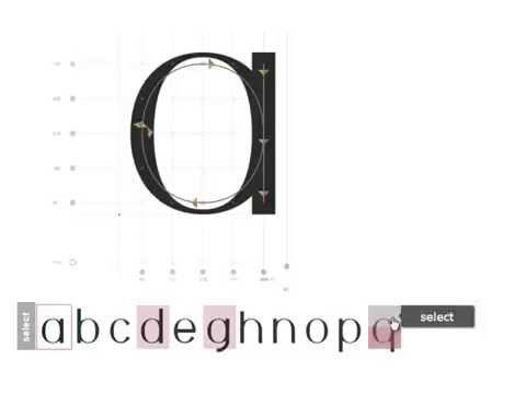 FontArk - Advanced online font editor, font creator