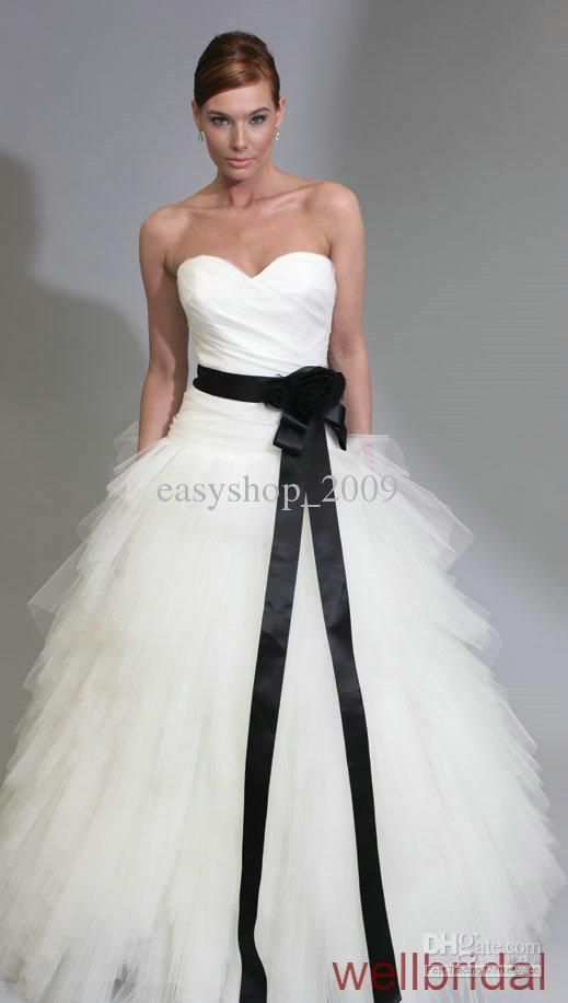 Wholesale wedding dress buy white a line layers black for Unusual wedding dresses for sale