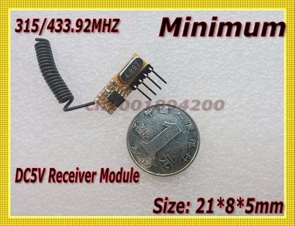 DC5V Superheterodyne Receiver Module The Smallest Receiver Module Minimum Receiver Module 315/433MHZ  21*8*5mm