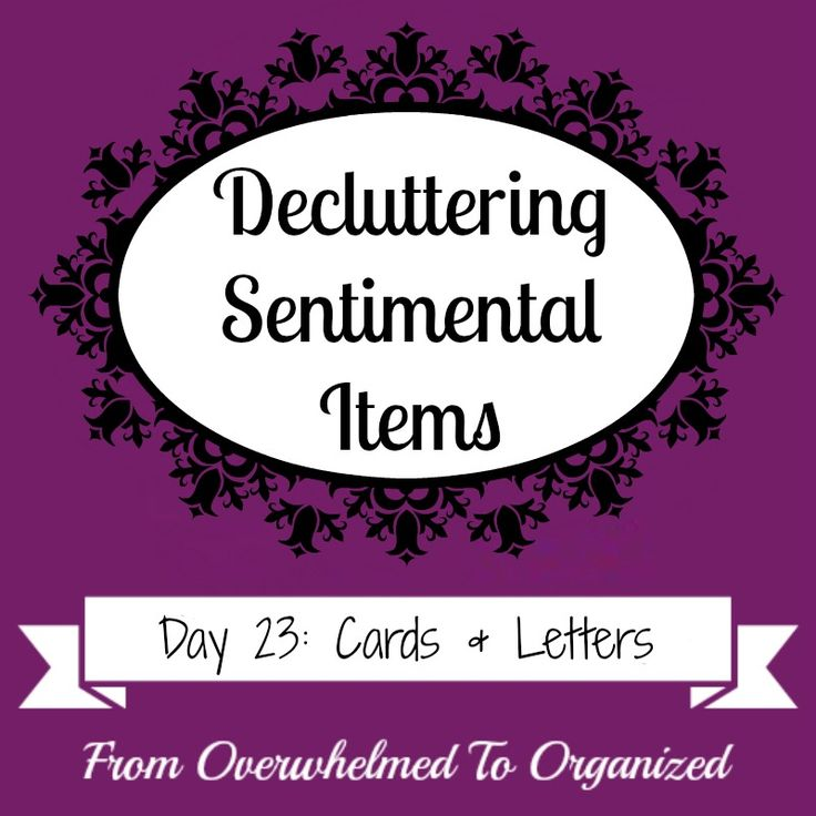 Overwhelmed with sentimental clutter? This series gives tips to help you declutter sentimental items! Today's post gives strategies to help you purge old cards and letters.