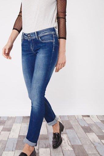 Venda Pepe Jeans / 28240 / Mulher / Calças de ganga slim e skinny / Calças de ganga slim Azul