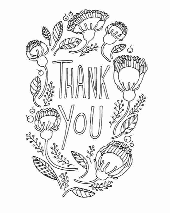 Thank You Coloring Page Awesome Printable Colouring Thank You Cards Coloring Pages Of Thank Fathers Day Coloring Page Heart Coloring Pages Coloring Pages