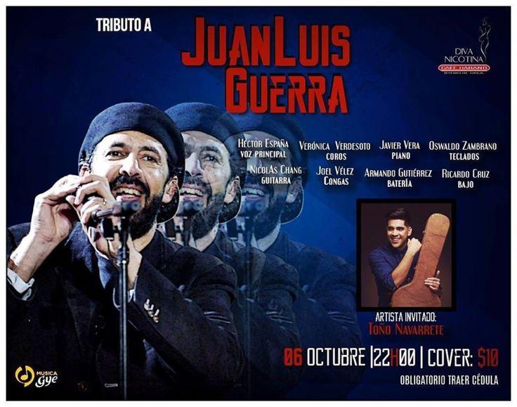 OCT 6 Tributo a Juan Luis Guerra en Diva Nicotina