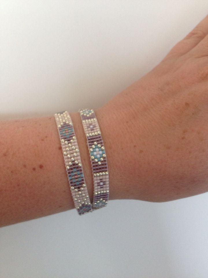 Dubbele armband bead loom