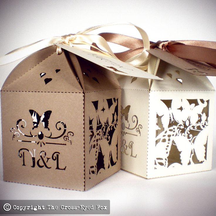 Floral butterfly wedding favor box, Laser cut wedding favour box, Personalised favour, Floral wedding table decor, Romantic summer wedding by TheCrossEyedFox on Etsy https://www.etsy.com/listing/231280733/floral-butterfly-wedding-favor-box-laser