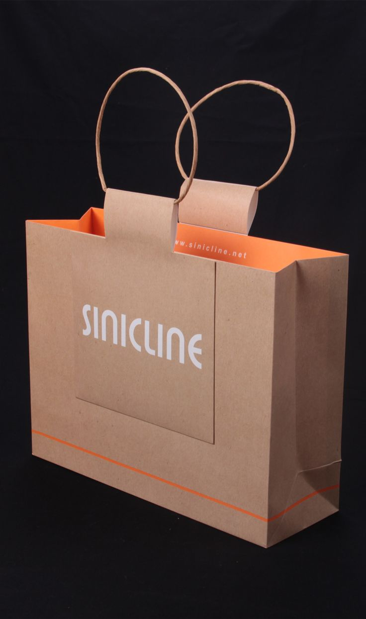 Kraft paper shopping bag with twisted handles #shoppingbag #paperbags #packaging View more at @sinicline